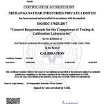 NABL Certificate Mechanical Calibration Lab