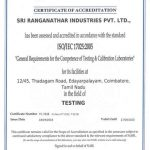 NABL Certificate Chemical & Mechanical Testing